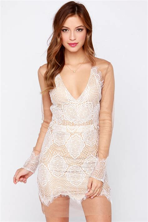 sexy ivory dress tan  ivory dress lace dress long