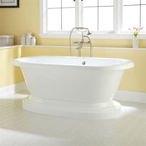 in tubs acrylic pedestal tub bathroom