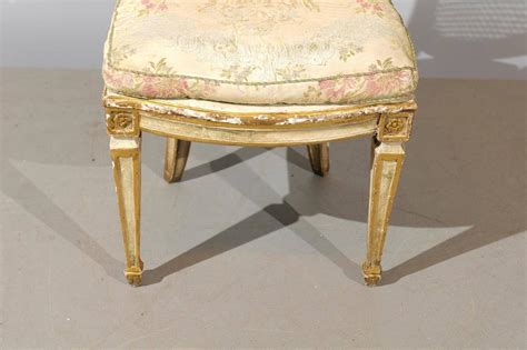 oak chairs for set of six 19th century italian neoclassical style painted 3565