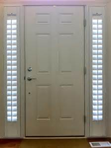 entry door with two side lights shutters stay nice and