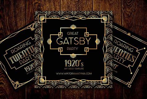 deco art frame invitation border vector gatsby