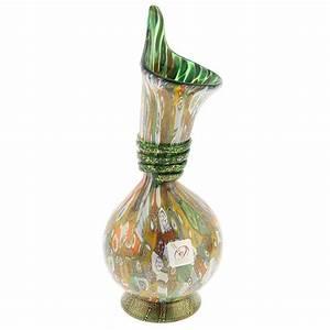 Murano Glass Vases Murano Millefiori Gold Art Glass