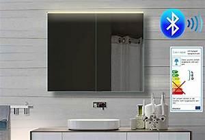 Bluetooth Lautsprecher Badezimmer : alu badezimmer spiegelschrank led und bluetooth lautsprecher 82 x 70cm bhc82h70 m bel24 ~ Markanthonyermac.com Haus und Dekorationen