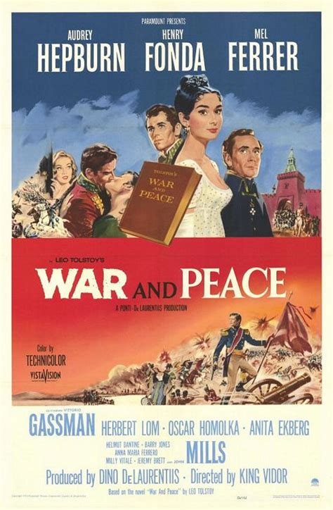 peace war 1956 movie poster posters guerra hepburn paz audrey nino vidor king rota maria fonda henry ferrer mel