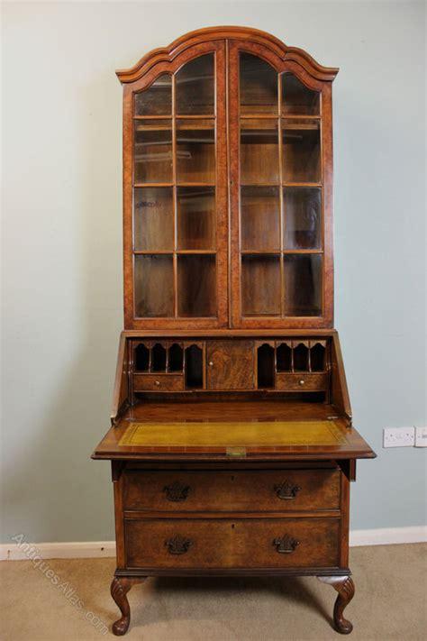 bureau cabine antique walnut bureau bookcase cabinet antiques atlas