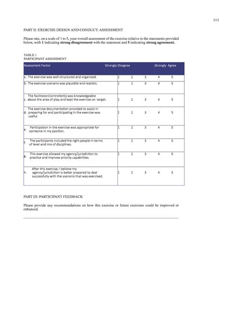 hseep templates appendix r evaluation forms participant feedback summary form rno 2015 tabletop and