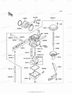 Kawasaki Atv 1999 Oem Parts Diagram For Carburetor