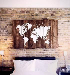Carte Du Monde En Bois : etsy chez ~ Nature-et-papiers.com Idées de Décoration