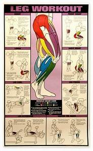 Leg Workout Chart Exercise Com Peg It Board Workout