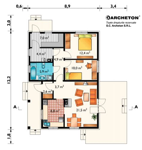 one floor plan small houses 100 square meters houz buzz