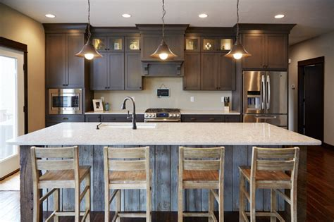 kitchen cabinets to ceiling height kitchen with decorative reclaimed wood accent and ceiling 8152