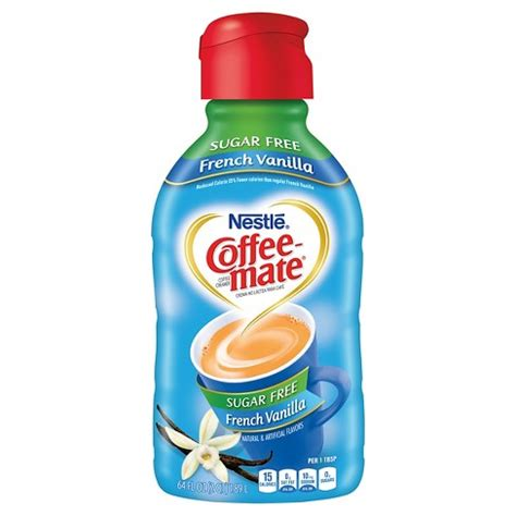 Per serving, one can get 60 calories in which fat is about 15. Coffee Mate Sugar Free French Vanilla Coffee Creamer - 64 ...
