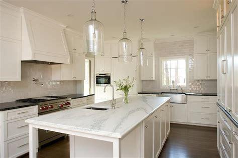 granite topped kitchen island three corsica 1 light pendants hang a narrow