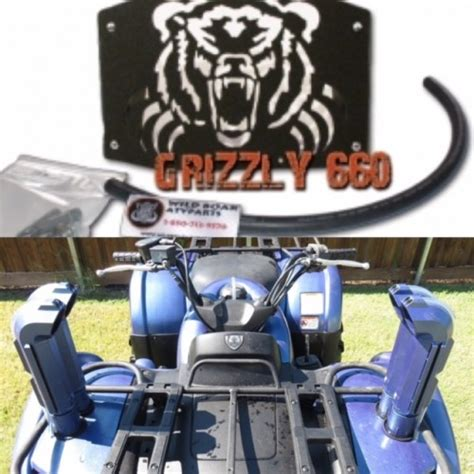 yamaha grizzly 660 radiator relocation kit snorkel combo kit 02 08 boar atv parts your