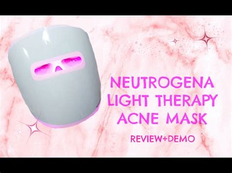 light therapy reviews neutrogena light therapy acne mask review and demo