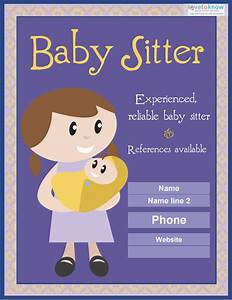 Babysitter Flyer Sample 13 Fabulous Psd Baby Sitting Flyer Templates In Word Psd