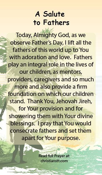 prayer happy fathers day  salute  fathers