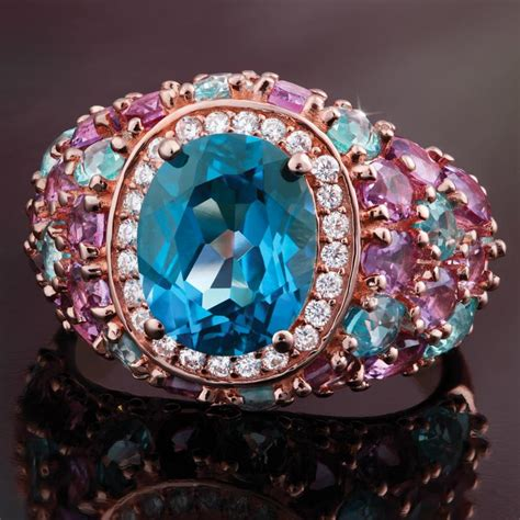 Amazing Blue Topaz Tp 595 10 blue topaz ring w8405 stauer