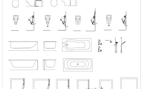 Bathroom Fixtures Cad Blocks by Cad Blocks Archives Page 7 Of 12 In Architecture
