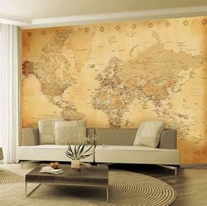 Tapisserie Carte Du Monde : carte du monde ancienne poster mural g ant planche tendance pinterest poster mural geant ~ Teatrodelosmanantiales.com Idées de Décoration