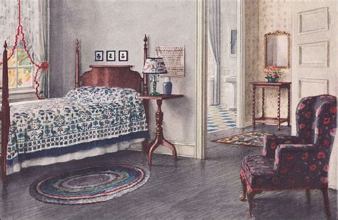 armstrong bedroom colonial style vintage interior