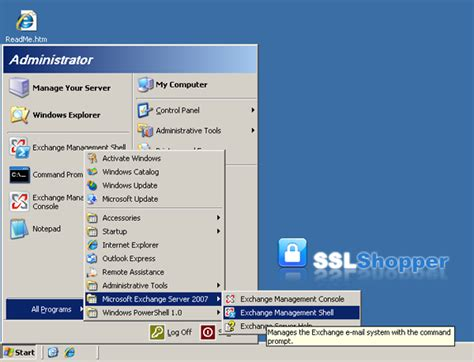 exchange management console how to use ssl certificates with exchange 2007