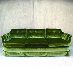 bright moss green velvet sofa vintage chic pinterest With moss green sectional sofa