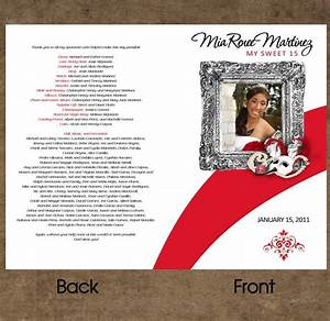 program for quinceanera in phantom of the opera theme With sweet sixteen program template