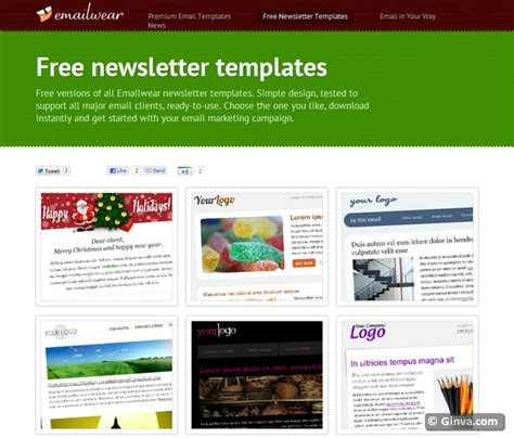 free newsletter templates for 10 excellent websites for downloading free html email newsletter templates ginva