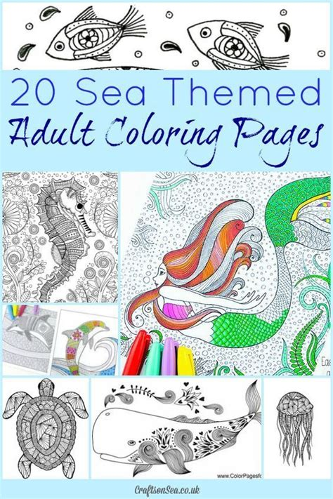 ocean themed adult coloring book 20 free sea themed adult coloring pages beautiful