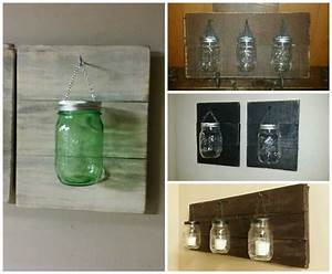 pallet used for mason jar candle holders o 1001 pallets With what kind of paint to use on kitchen cabinets for diy jar candle holders
