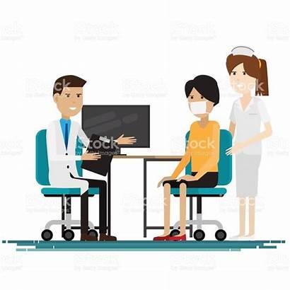 Medical Staff Computer Clipart Vector Clip Patients