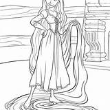Rapunzel Coloring Tangled Pages Disney Baby Omelet Hannah Montana Printables Template sketch template