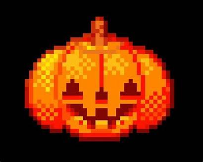 Pumpkin Animated Photoshop Pixel Icon Halloween Adobe