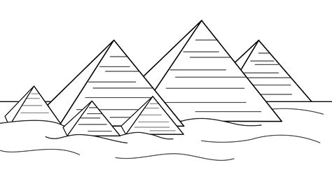pyramids  egypt coloring page  clip art