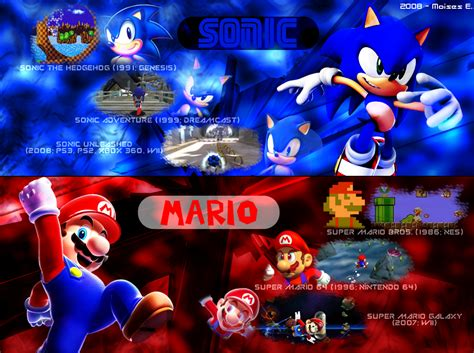Mario vs Sonic Background
