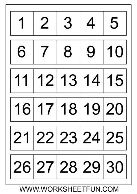 number chart 1 30 number charts 1 to 30 homeschool 507 | 1089cdab143f5ba1df231e162943549e