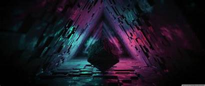 Abstract Tunnel Ultra Triangle Monitor Desktop Widescreen