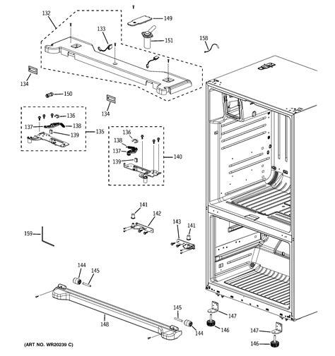 ge model pfsspkwbss bottom mount refrigerator genuine parts