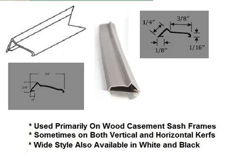 casement sash frame weather strip tan  lengths truth window hardware