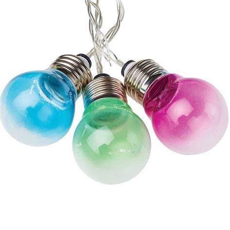 solar bulb string lights solar lightbulb string lights by london garden trading