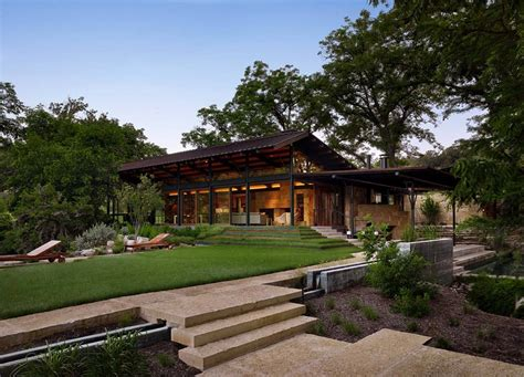 modern country living room ideas hill country ranch home offers a water 39 s edge