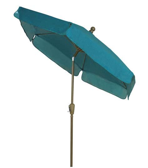 7 5 teal canopy garden tilt umbrella bronze finish