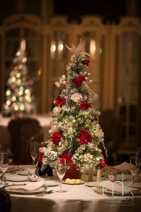christmas tree wedding centerpieces at our christmas 2013