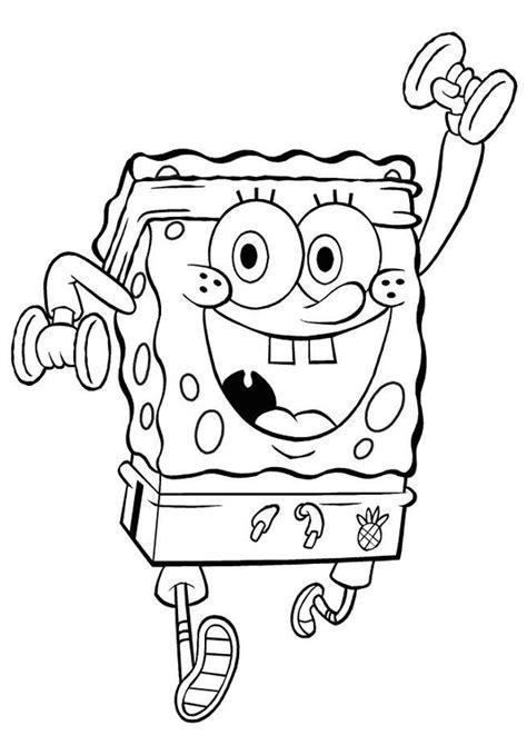 Exercising Spongebob coloring Cartoon coloring pages