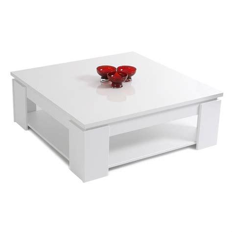 SHINY Table basse carrée Blanc brillant Achat / Vente