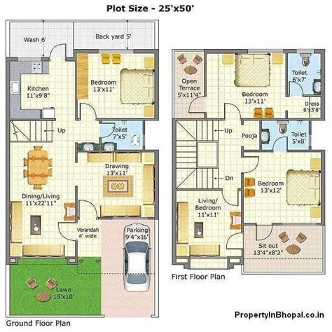 New 3 Bedroom House Plans In India  New Home Plans Design