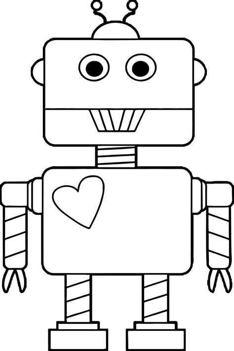 robot heart coloring page wecoloringpagecom