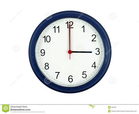 bureau travail a vendre horloge affichant 3 heures photographie stock libre de