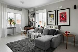 Graue Möbel Welche Wandfarbe : 1001 wohnzimmer ideen die besten nuancen ausw hlen ~ Markanthonyermac.com Haus und Dekorationen